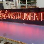 Acryli casing for neon signage