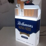 Rothmans display case (after)