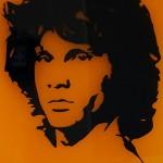 Laser cut Jim Morrison image