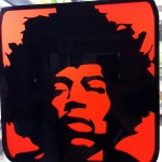Laser cut Jimi Hendrix image